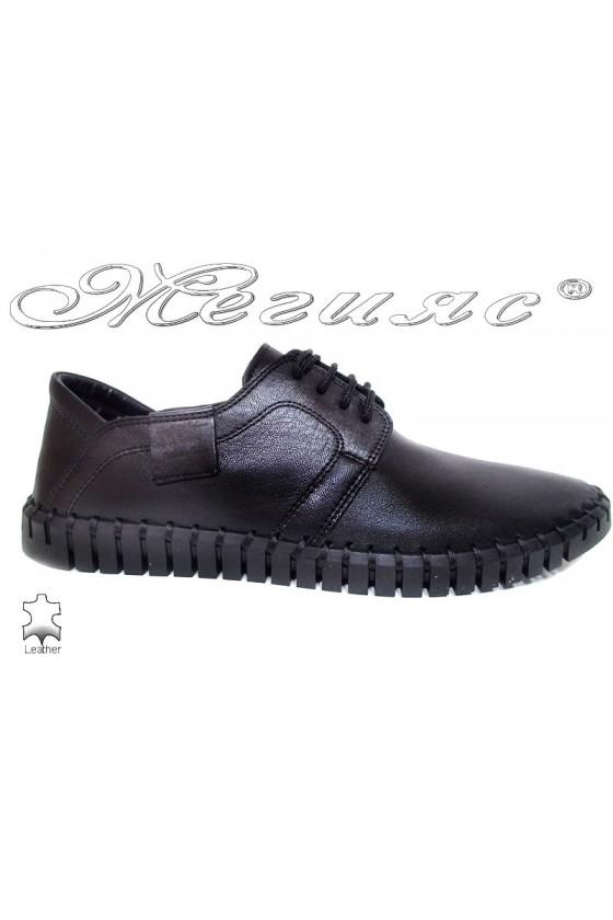 Men shoes FANTAZIA 06-014 black leather