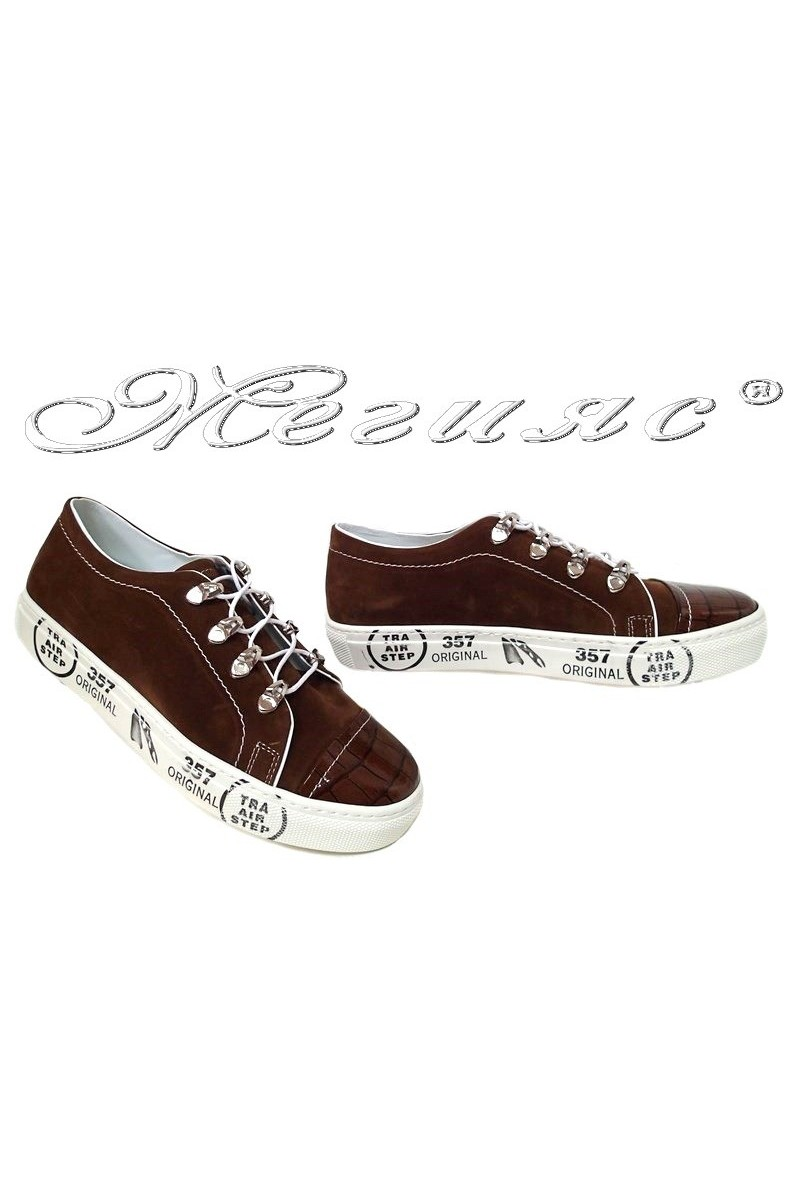 Lady sport's shoes 358 brown