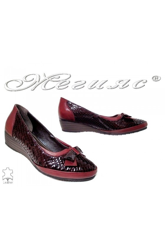 Women shoes 1049-136-53 bordo leather