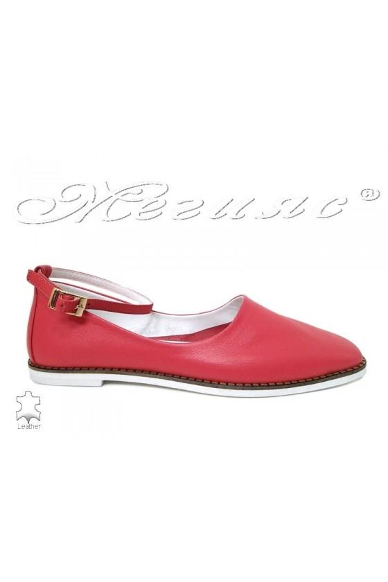 Дамски обувки 216-07 корал ежедневни естествена кожа