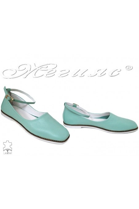 Women shoes 216-07 mint leather