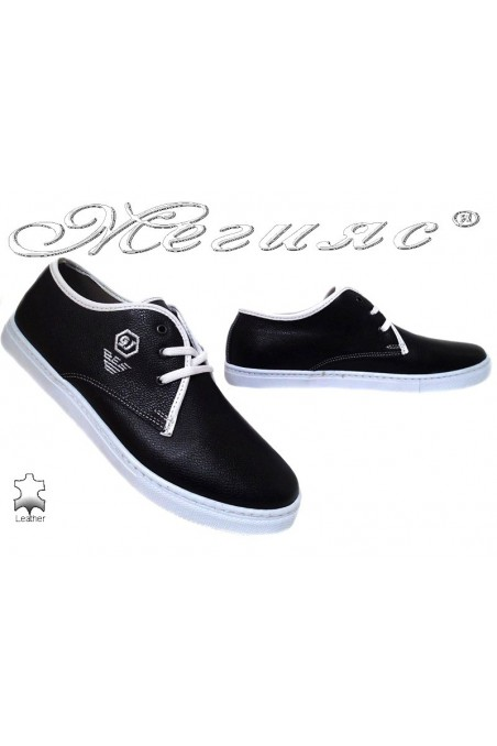 Men sport shoes 208 black leather