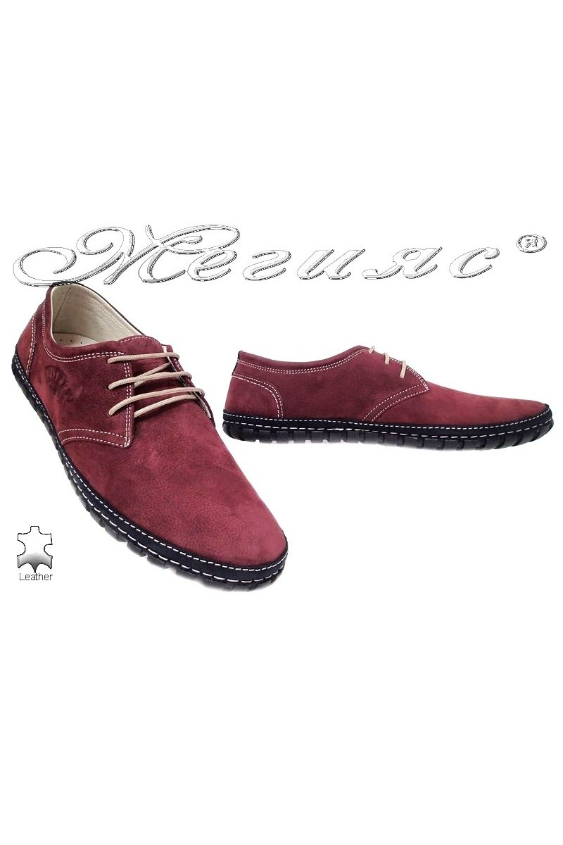 Men shoes PUFFY 748 red leather
