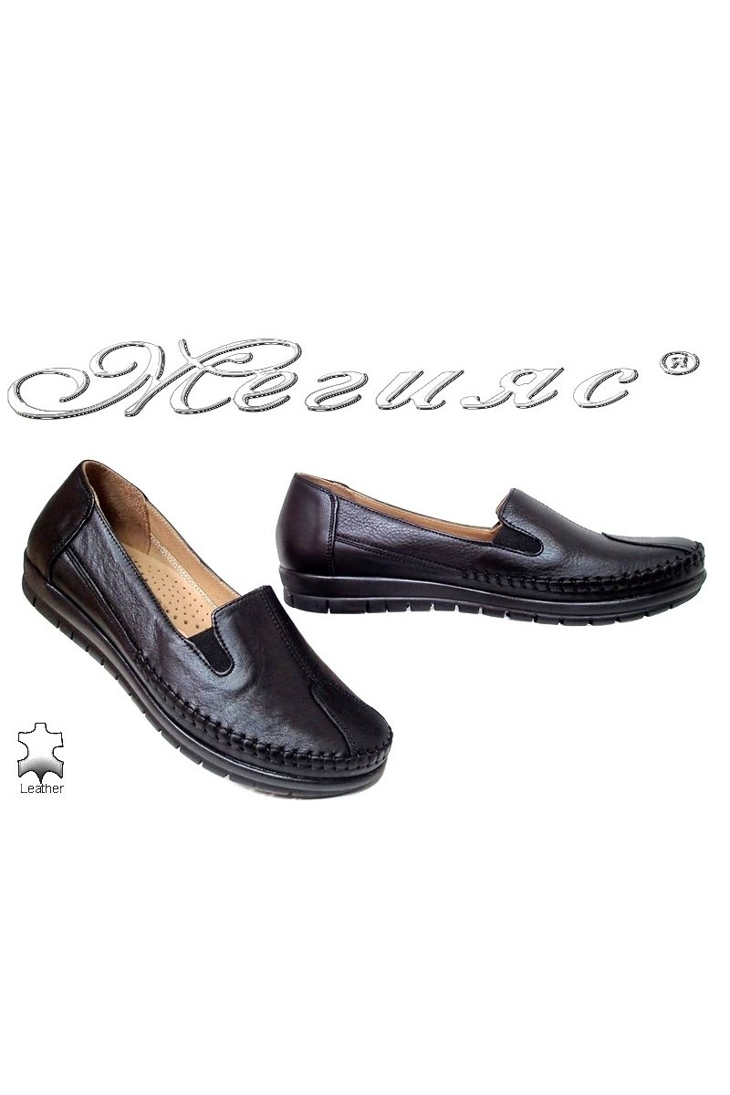 Women shoes 134 black leather