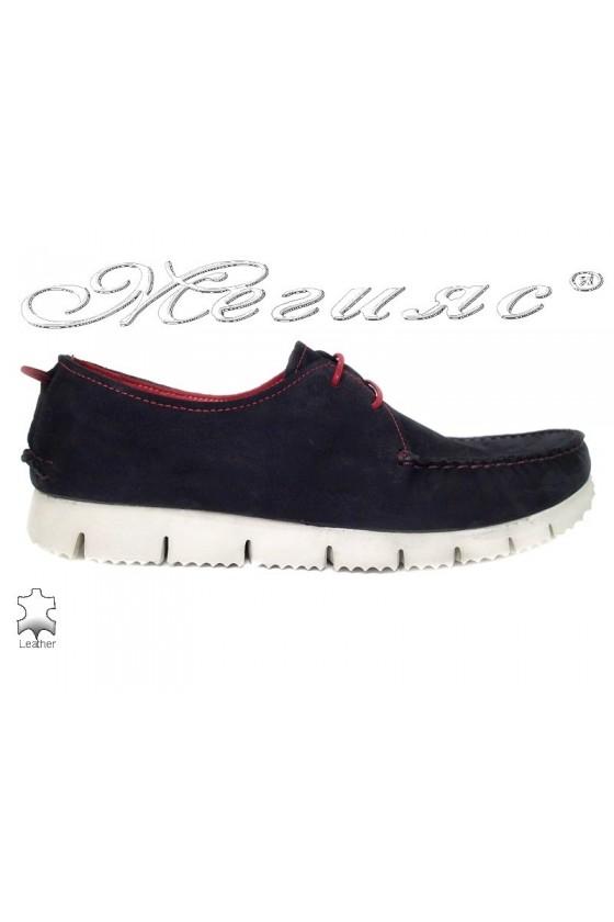 Men shoes TREND 475  blue leather