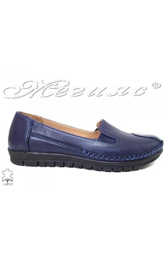 Women  shoes 134 blue leather
