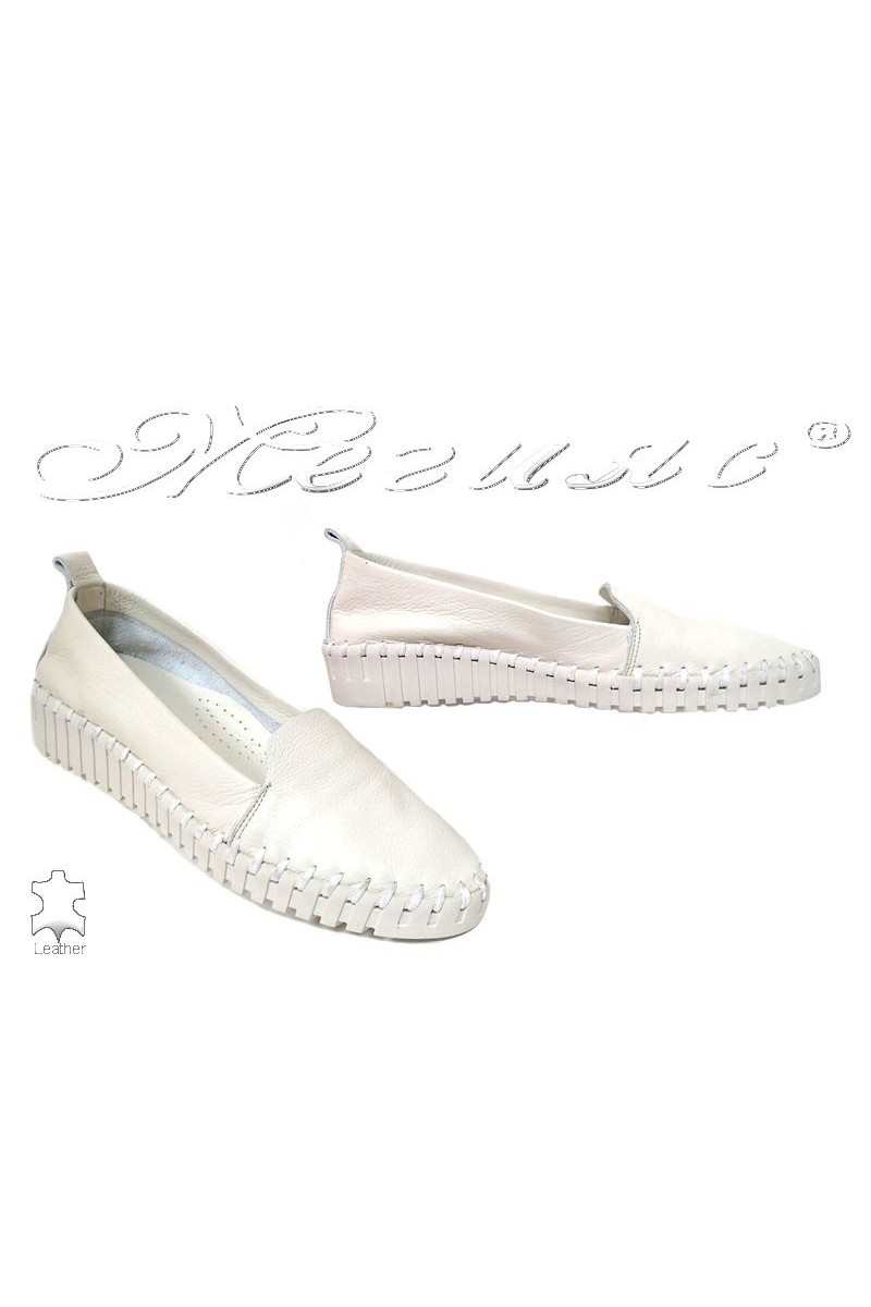 Women shoes 55 white leather