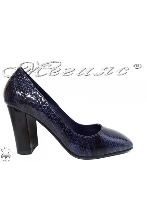 Lady shoes 301-55 blue leather