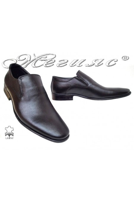 Men shoes ATO 077 black leather