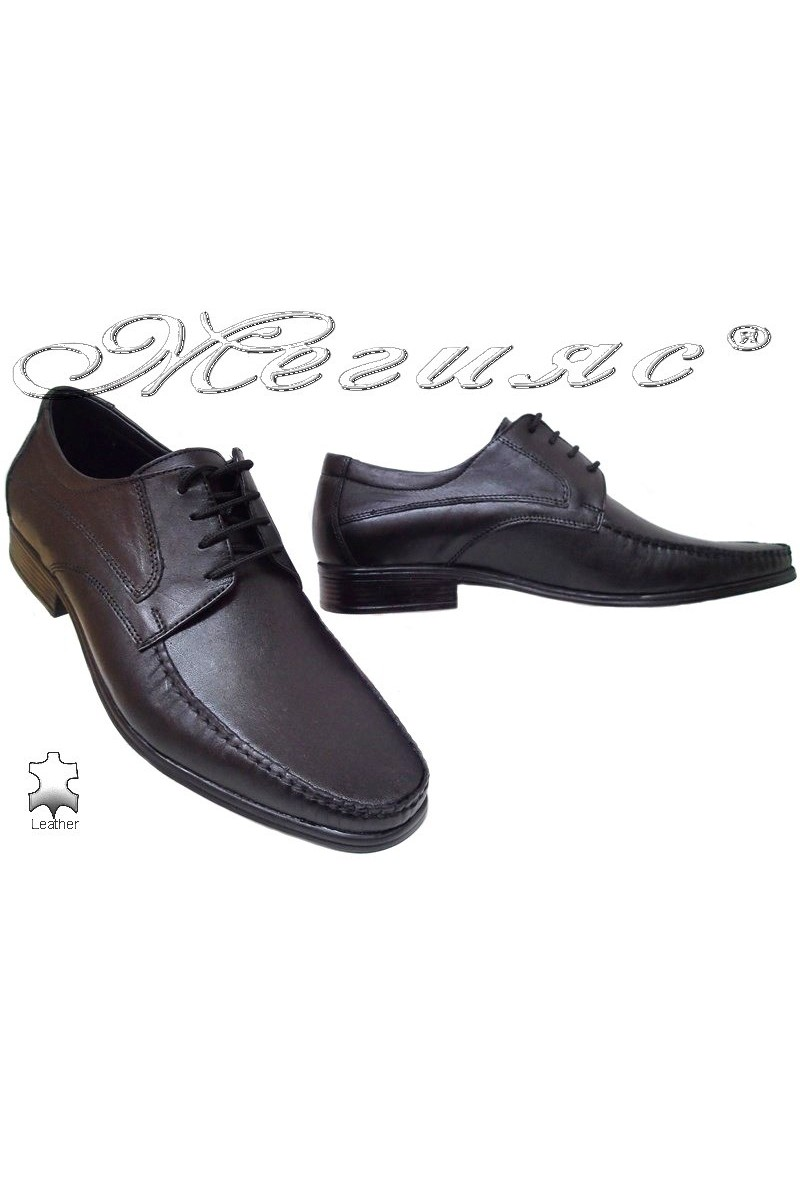 Men shoes ATO 07 black leather