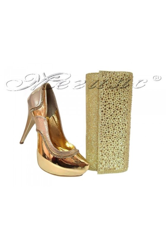 Lady shoes 171 and bag ARAB gold