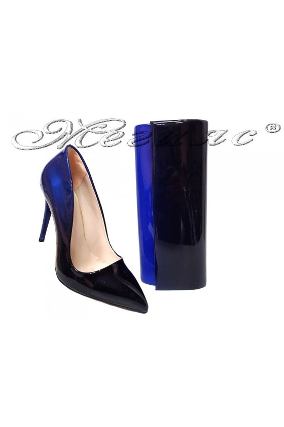 Lady shoes 5596 and bag 373 blue