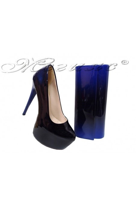 lady shoes 50-elegant and bag 373 blue