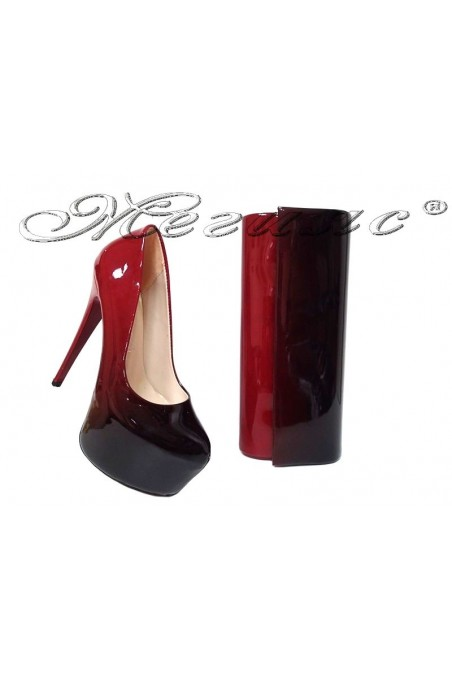 Women elegant shoes 50 red/black with bag 373