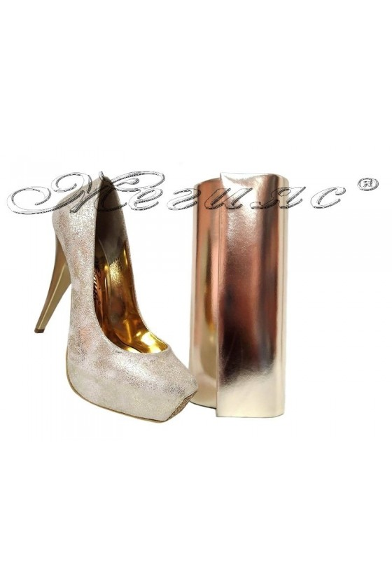 Lady shoes 531 and bag 373 gold