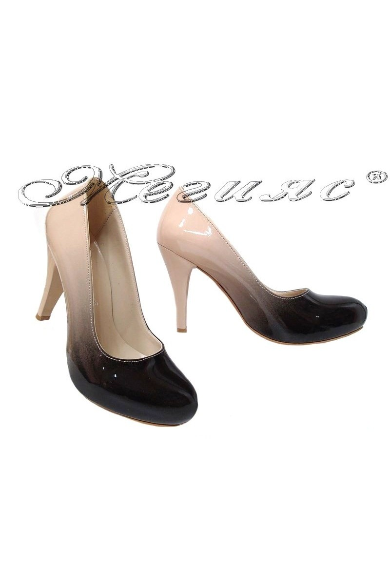 Women shoes 15 high heel beige+black