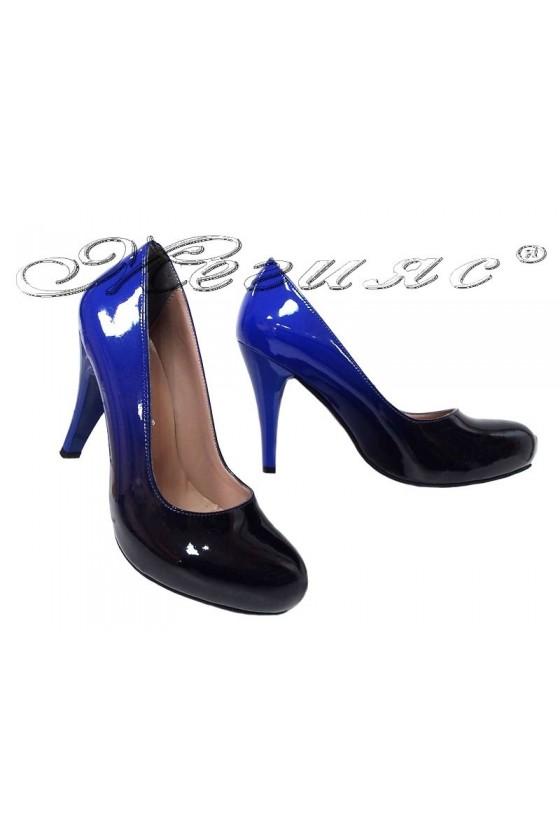 Women shoes 15 high heel blue+black