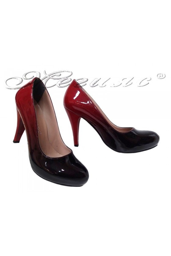 Women shoes 15 high heel bordo+black