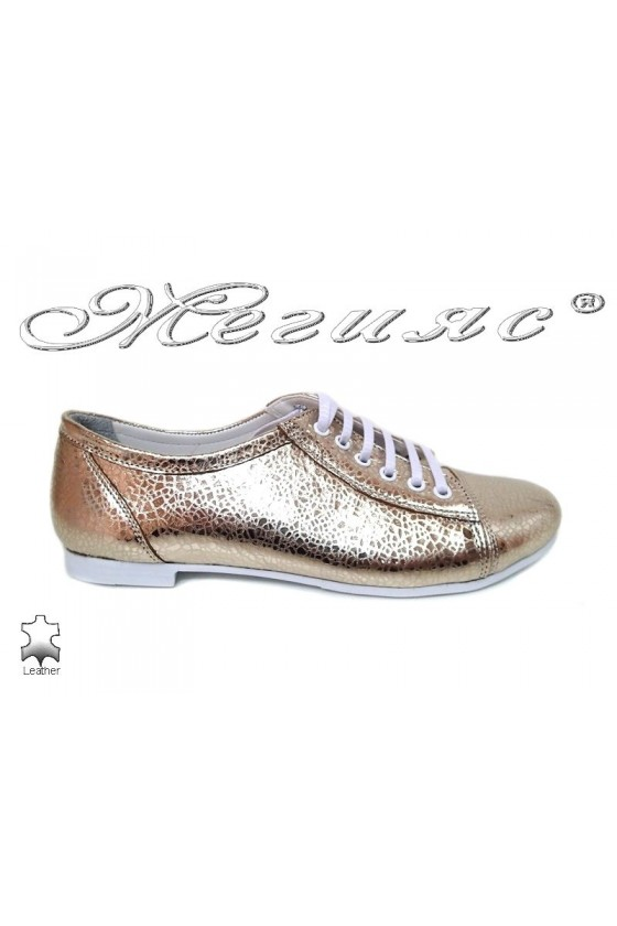Women  shoes 03-771 gold leather