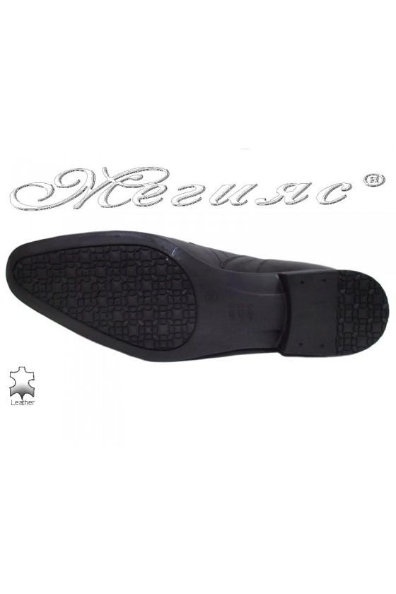 Men shoes ATO 0505 black leather