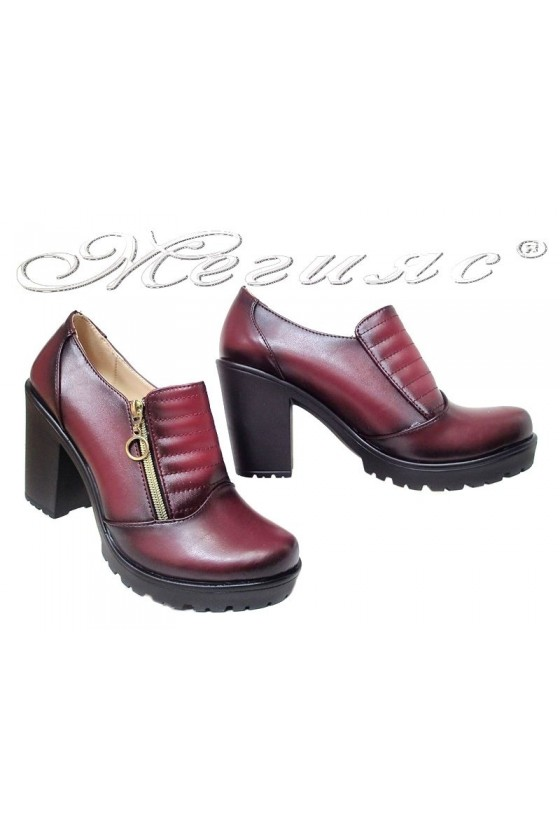 Women shoes 713 wine pu