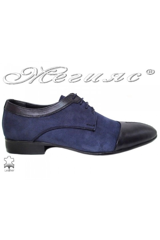 Men shoes FENOMEN 247 blue leather