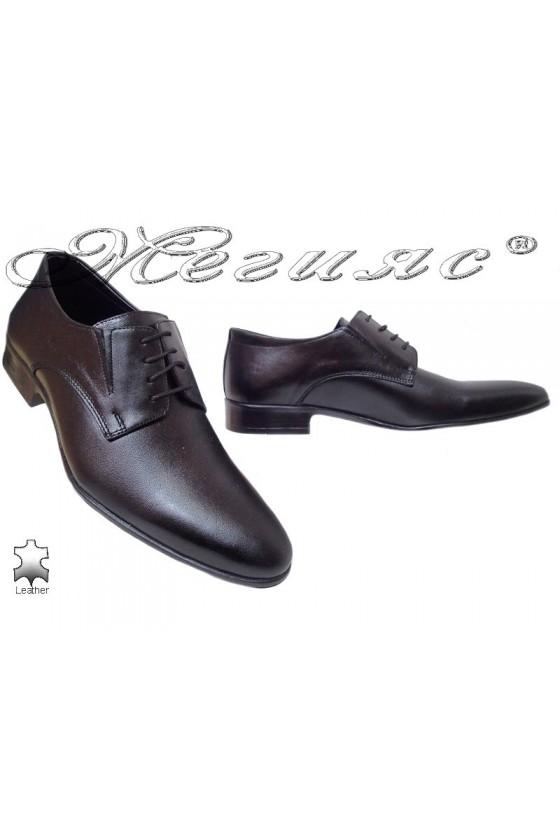 Мъжки/Юновески обувки Фантазия 8015черни естествена кожа
