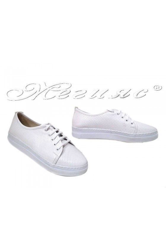 Lady sport's shoes 101 white pu