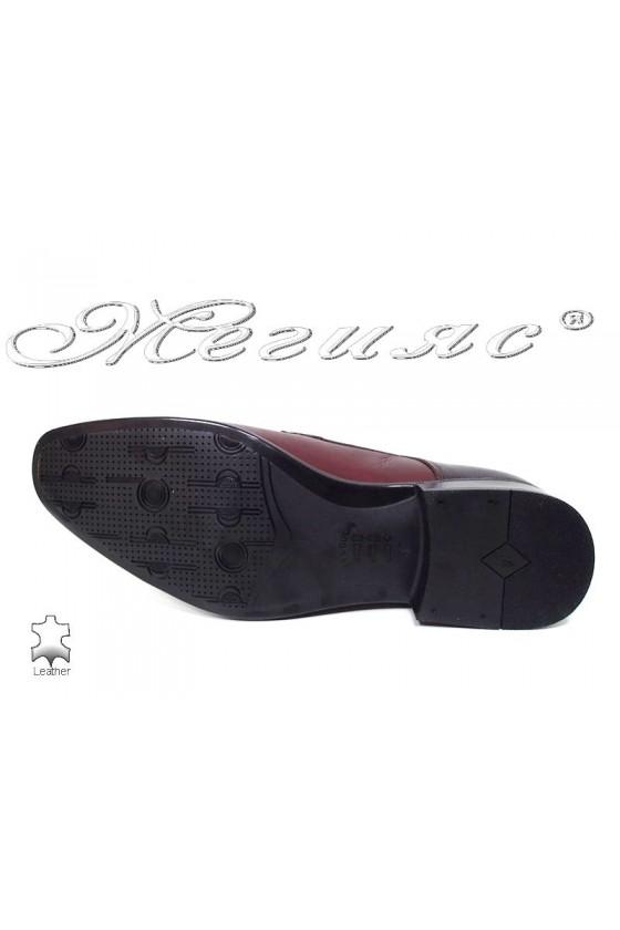 Мъжки обувки естествена кожа бордо Фантазия 11-P
