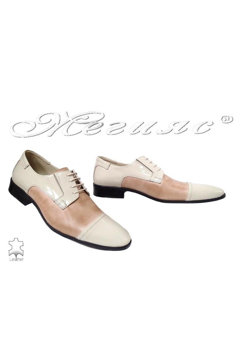 Men shoes FANTAZIA 11-P beige leather