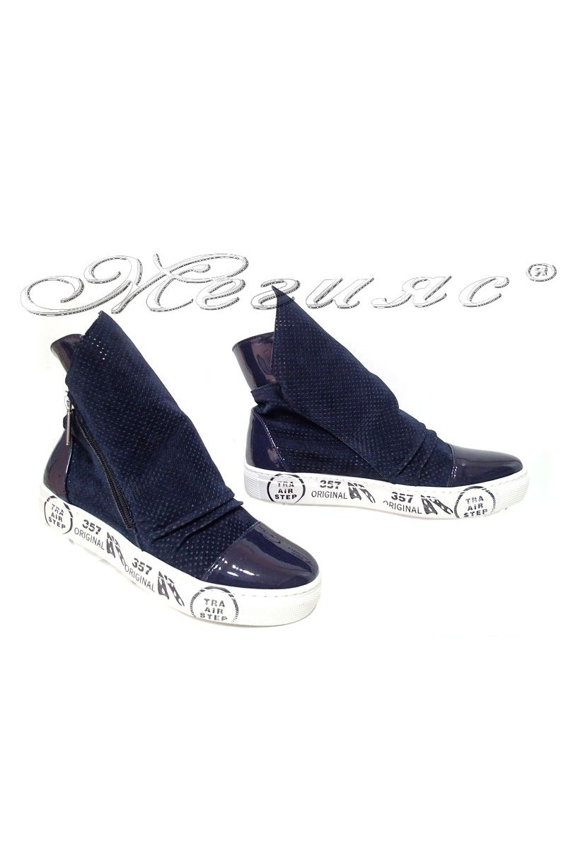 Summer boots 044 blue pu