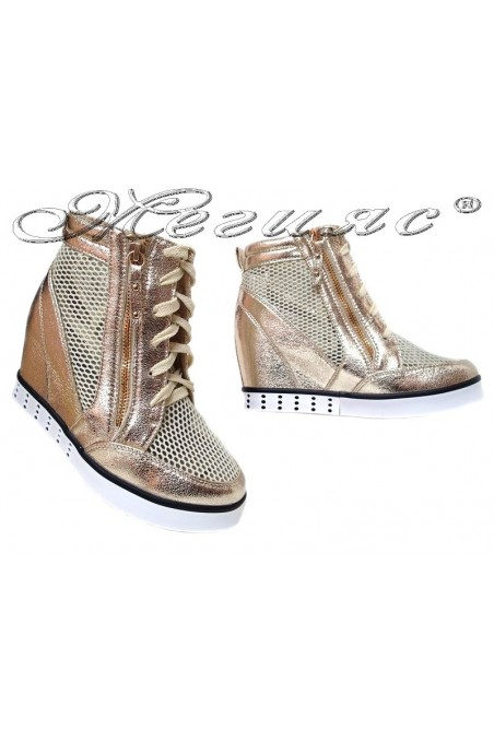 Lady shoes LINA 2016-396 gold