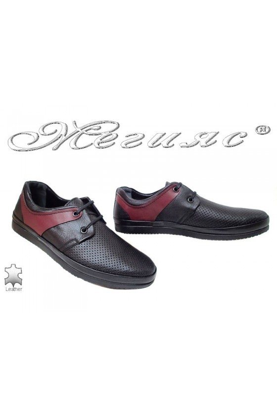 Men shoes 603 SENS black leather