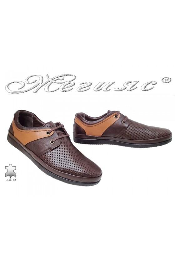 Мъжки обувки SENS 603 гигант кафяви естествена кожа