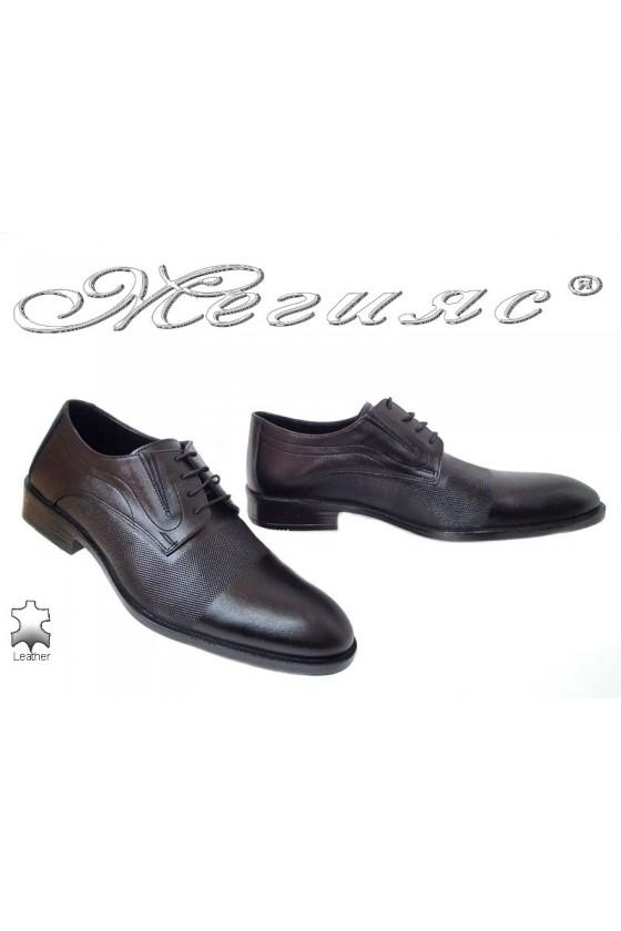 Мъжки обувки Фантазия 5139 черни естествена кожа