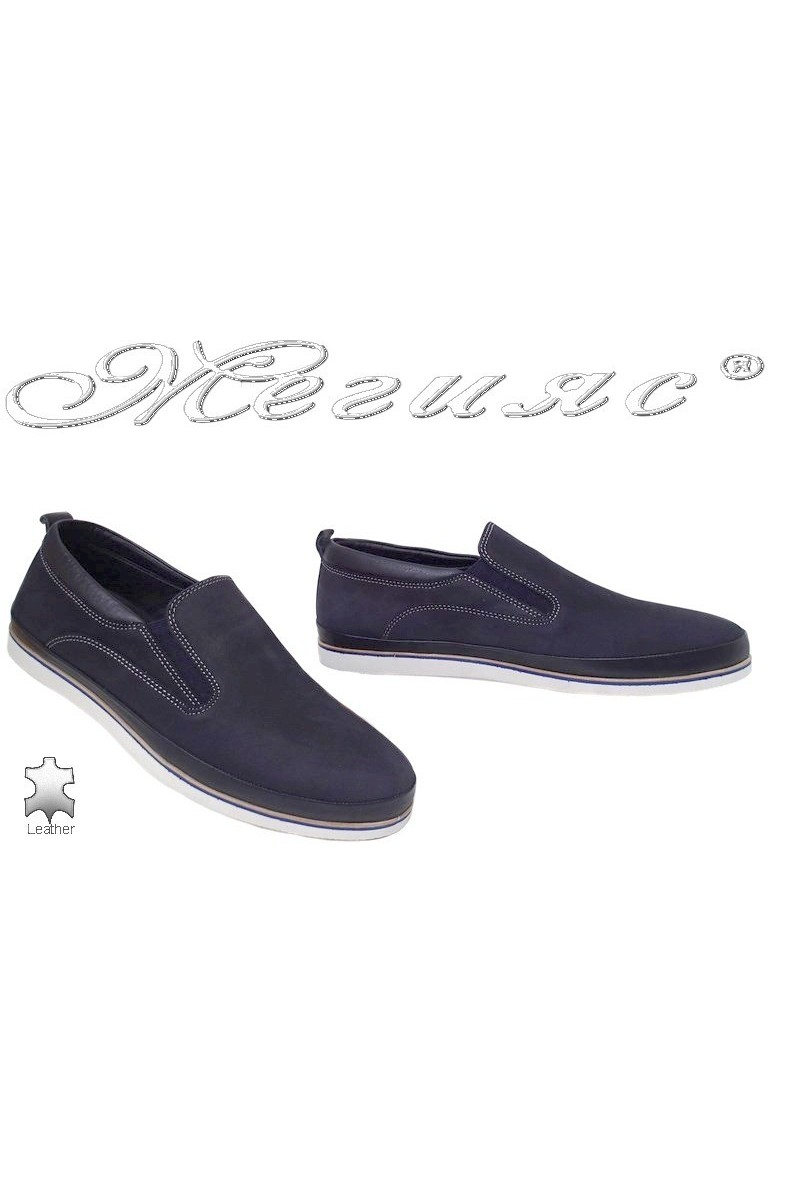 Men shoes FANTAZIA 061-21 blue leather