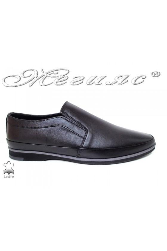 Men shoes FANTAZIA 16100 black leather