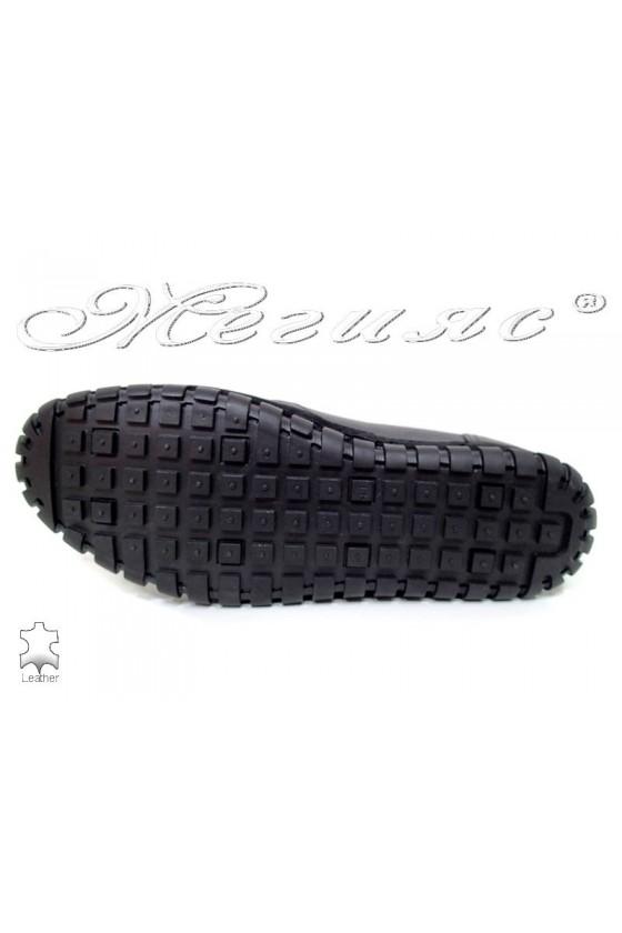 Men shoes 748 black leather