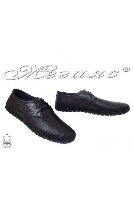 Men shoes 748 black leather