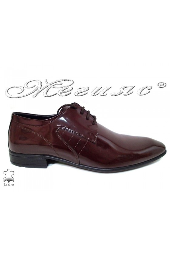 Men shoes ATO 0505 bordo leather