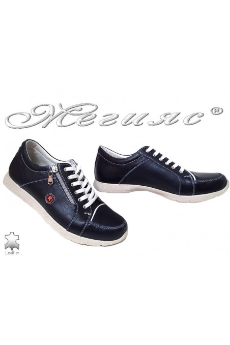 Men shoes 624 blue lether