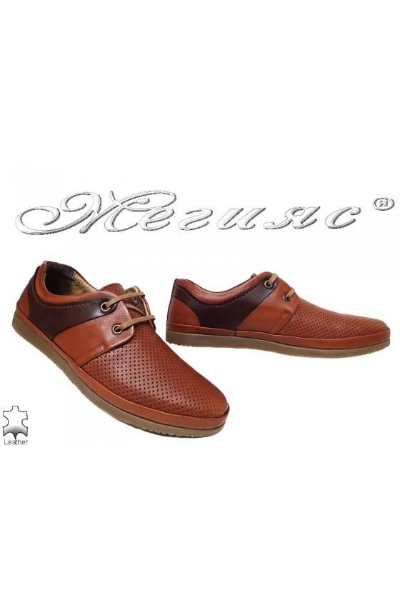 Мъжки обувки SENS 603 гигант таба+кафяво естествена кожа