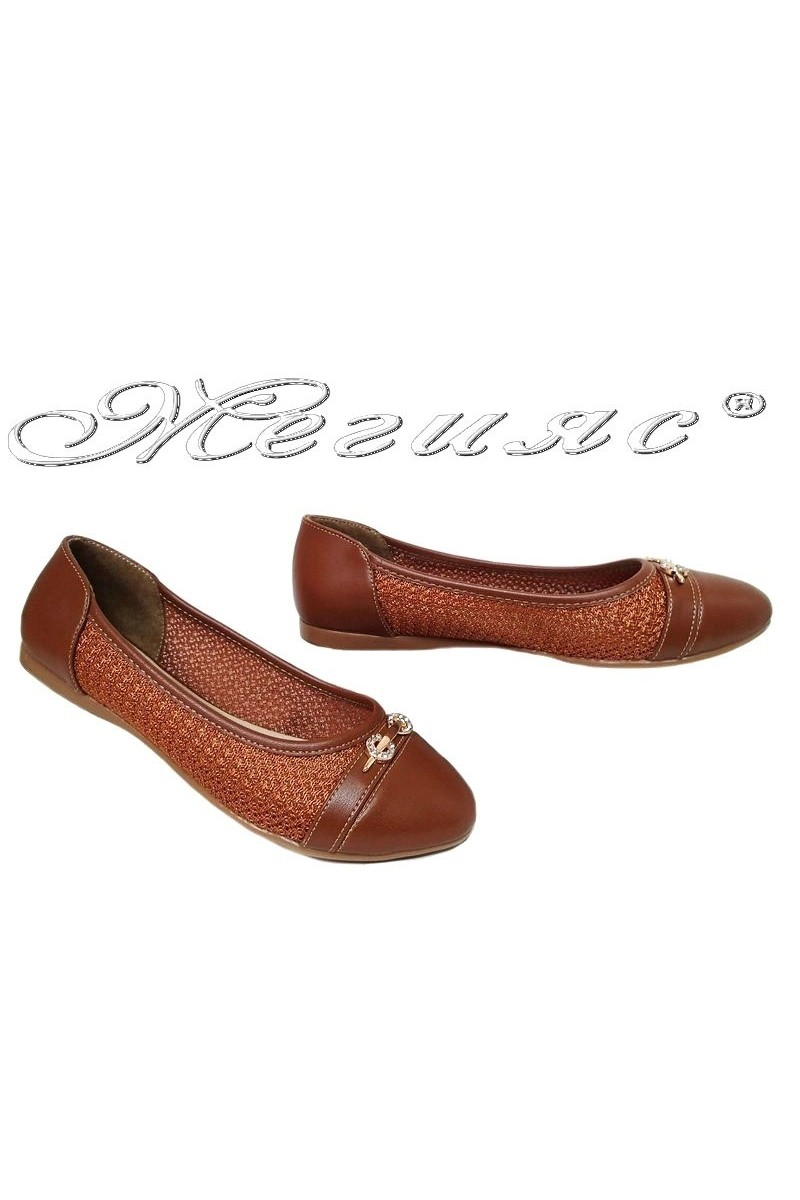 Lady shoes 11 brown pu