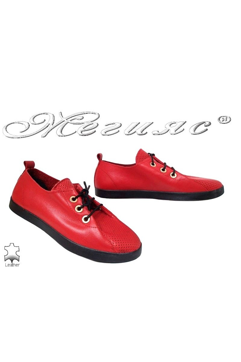Lady shoes 802 red pu