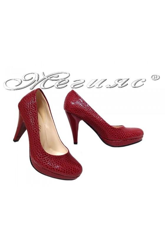 Lady shoes 520 bordo pu
