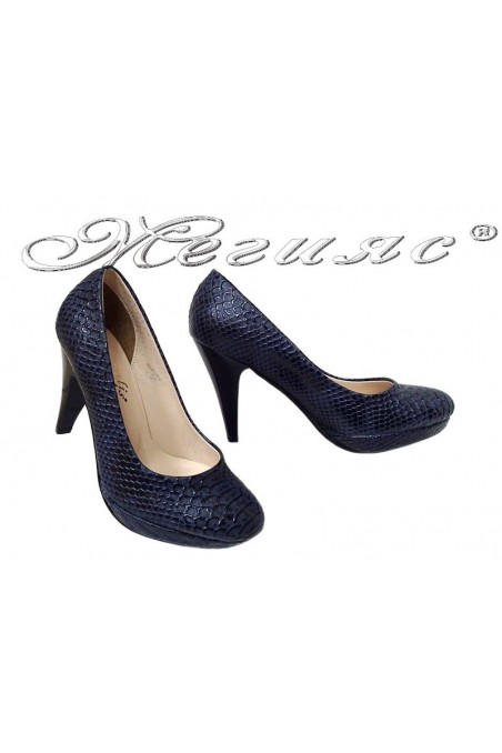 Lady shoes 520 blue pu