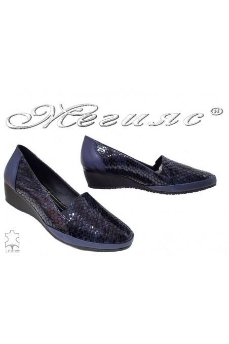 Lady shoes 1050-139-38 blue leather