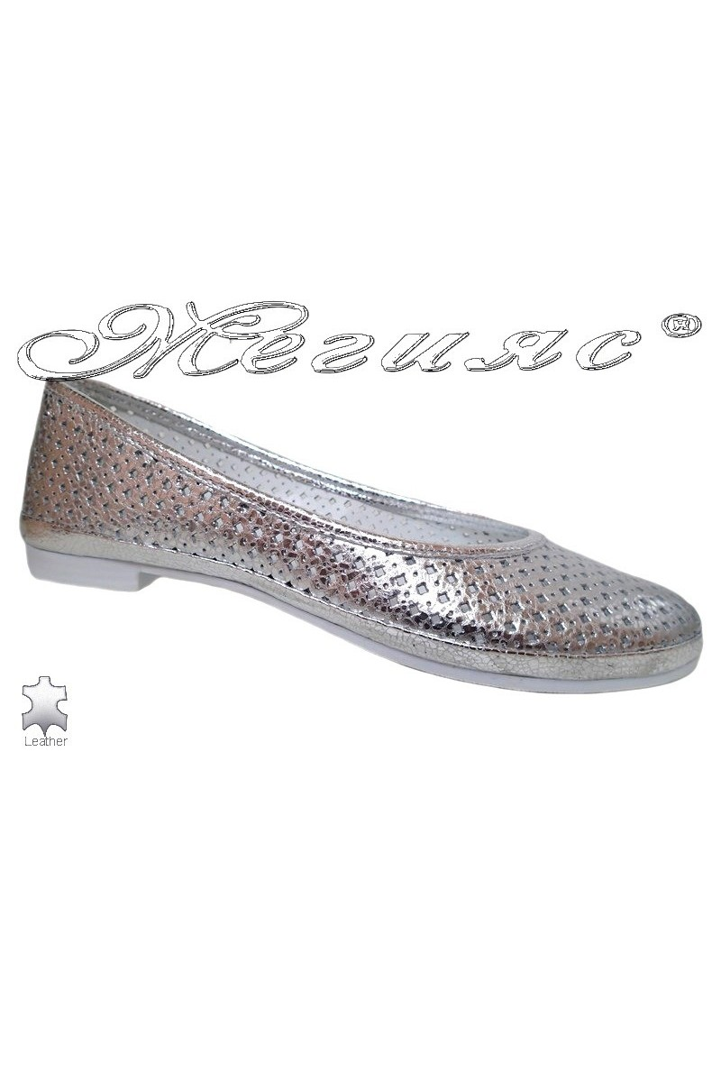 Lady shoes 251-63-771 silver leather
