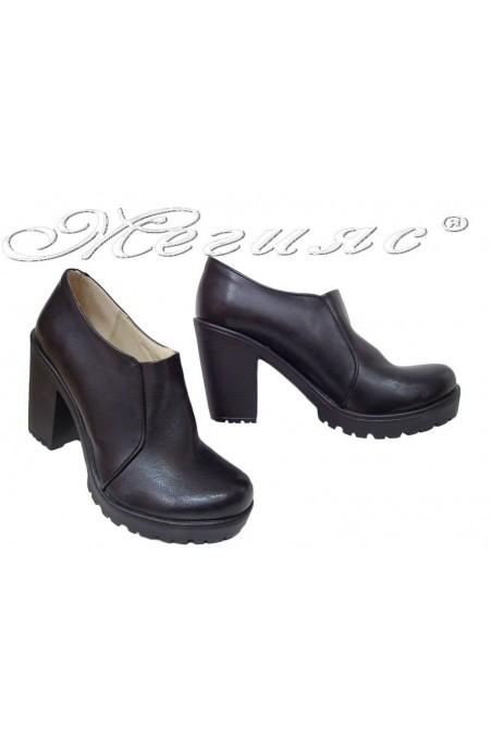 Women  shoes 712 black  pu