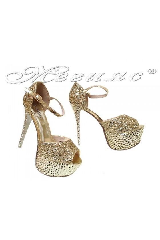 Lady shoes LINDA 2016-350 gold